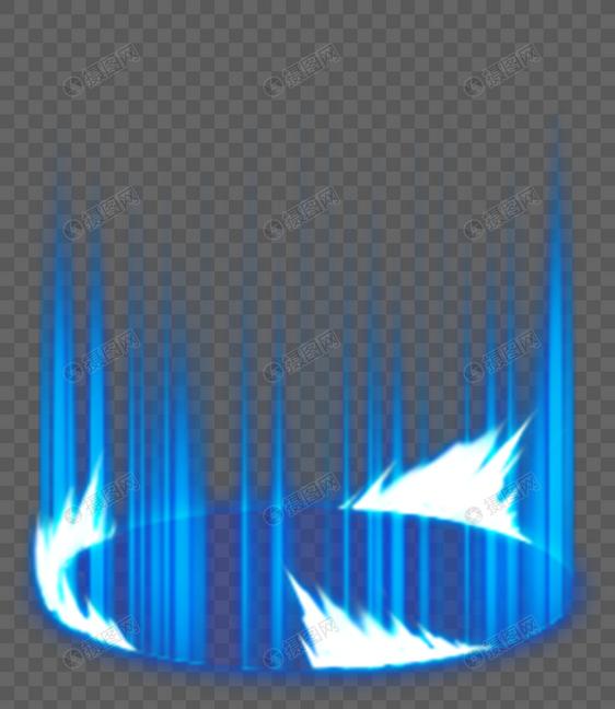 蓝色剑气特效元素素材psd格式_设计素材免费下载_vrf