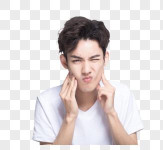 青年男士牙疼图片