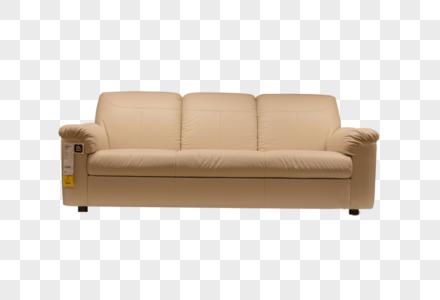 清新文艺家具白色皮质沙发图片