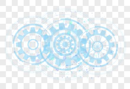 白色科技圆环背景图片