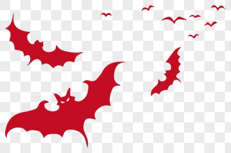 红色万圣节蝙蝠图片