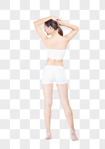 美女形体背影图片