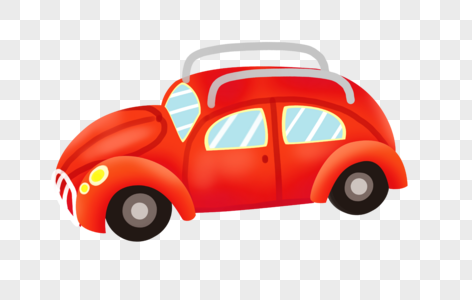 卡通小轿车图片
