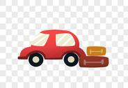 汽车与行李箱图片
