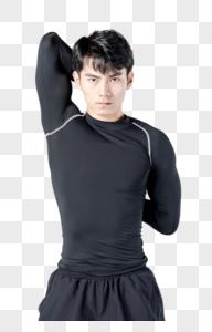 运动男性人像伸展图片