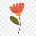 粉色花枝图片