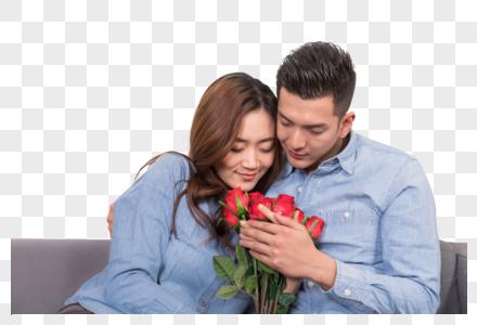 情侣送玫瑰花表白图片