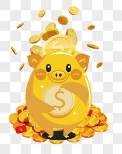 存钱罐猪图片