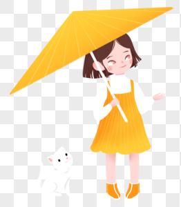 撑伞女孩图片