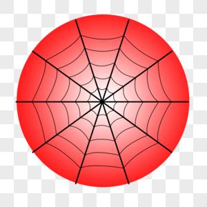 红色蜘蛛网图片