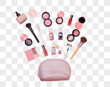 化妆包里的化妆用品图片
