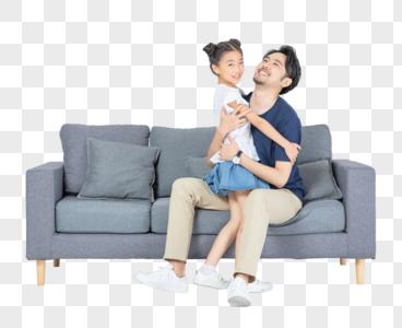 父女居家生活图片
