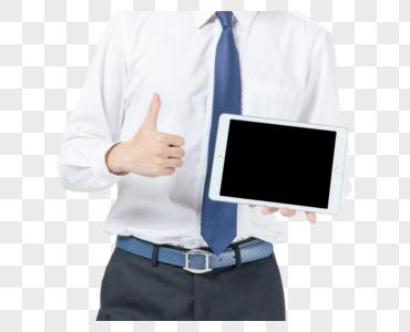 商务男士平板展示图片