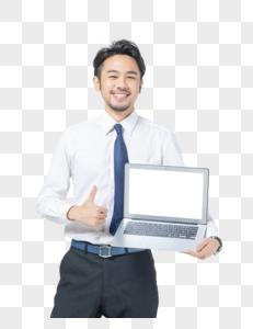 商务男士使用电脑图片