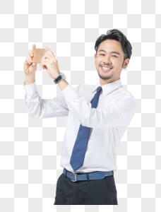 商务男士拍照图片