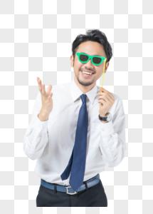 商务男性搞怪创意图片