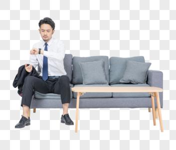 居家商务男性形象图片