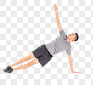 运动男性热身动作图片