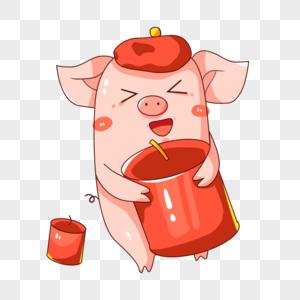 新年猪形象图片