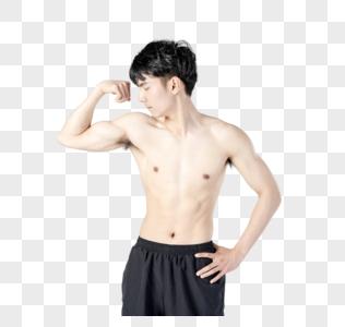 运动男性人像肌肉展示图片