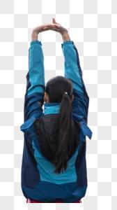 青春活动女性运动热身图片