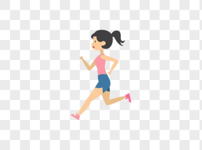 跑步的女生图片