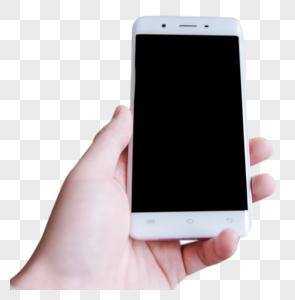 智能生活男人手握手机图片