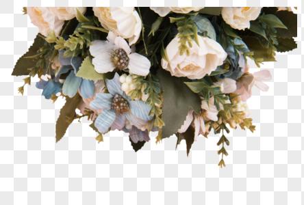 花束简约背景图片
