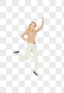 外国美女跳跃图片