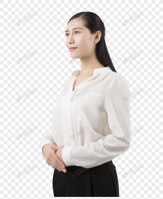 棚拍西裤白美女衬衣职业打死美女被中国图片