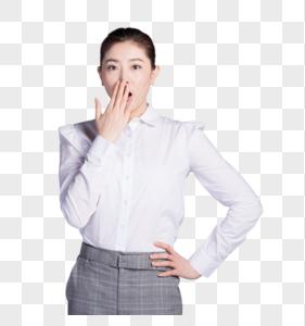 惊讶的商务女性图片