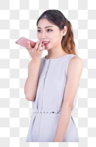 商务套裙女性手机语音图片