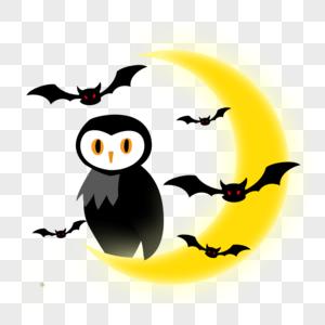 月亮与猫头鹰图片