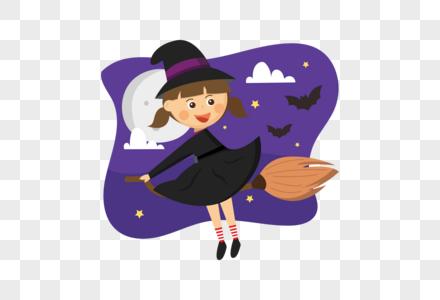 夜晚的女巫图片