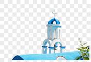 希腊爱琴海的教堂图片