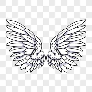 白色天使翅膀图片