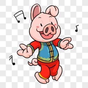 猪年形象元素图片