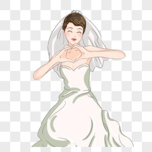 婚礼人物元素图片