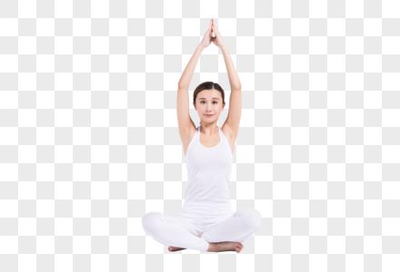 做瑜伽的年轻女性图片