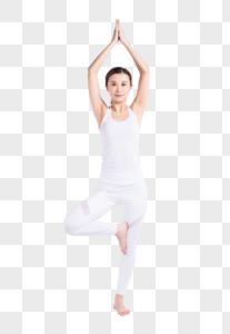健康的女性在瑜伽图片