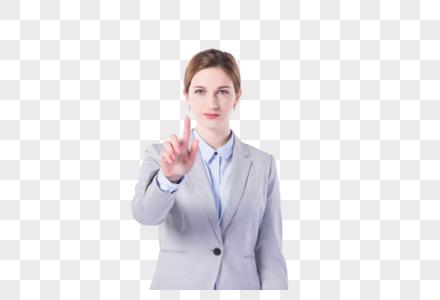 国外女性点击手势图片