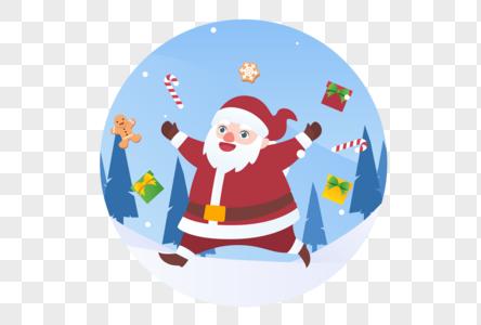 圣诞老人装饰图片