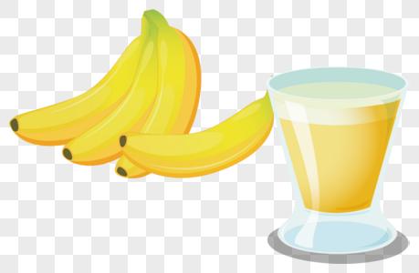 香蕉奶昔图片