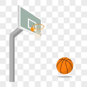 篮球和球框图片