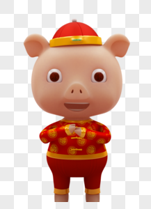 新年猪卡通形象图片