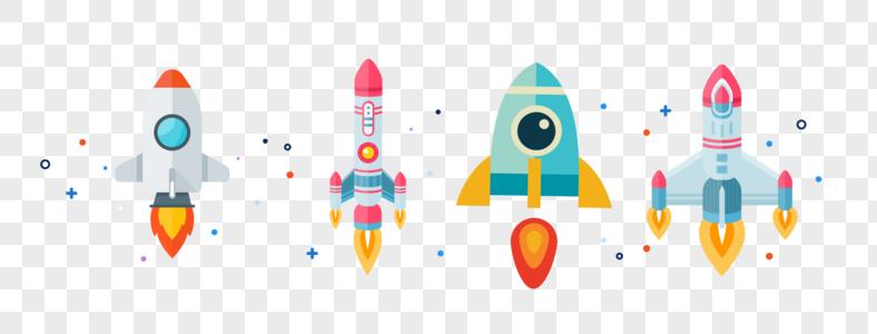 矢量火箭素材图片