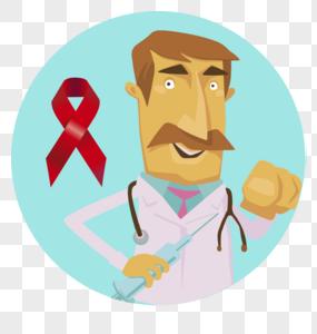 预防艾滋病男医生图片