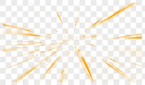 金色大气爆炸光束效果元素图片