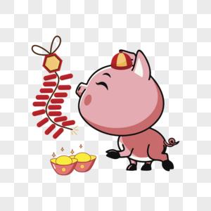 可爱猪猪鞭炮图片
