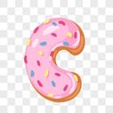 甜甜圈英文字母C图片
